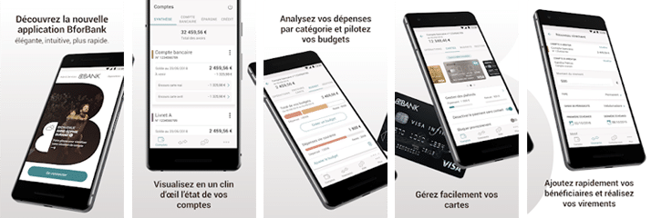 nouvelle application bforbank visuels play store