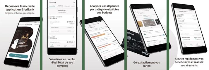 nouvelle application bforbank visuels play store
