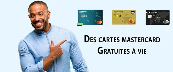 cartes fortuneo mastercard gratuites à vie