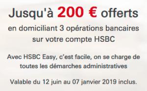 hsbc offre de bienvenue