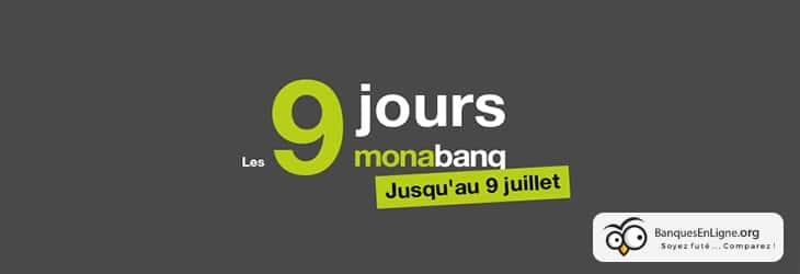9 jours Monabanq - banniere