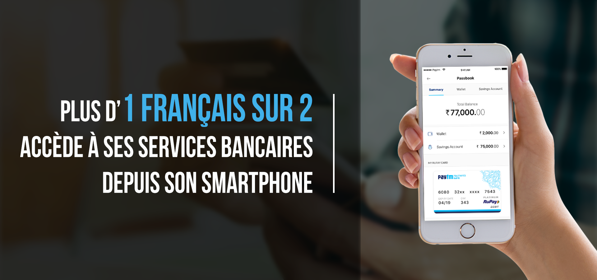 Banniere application mobile banque