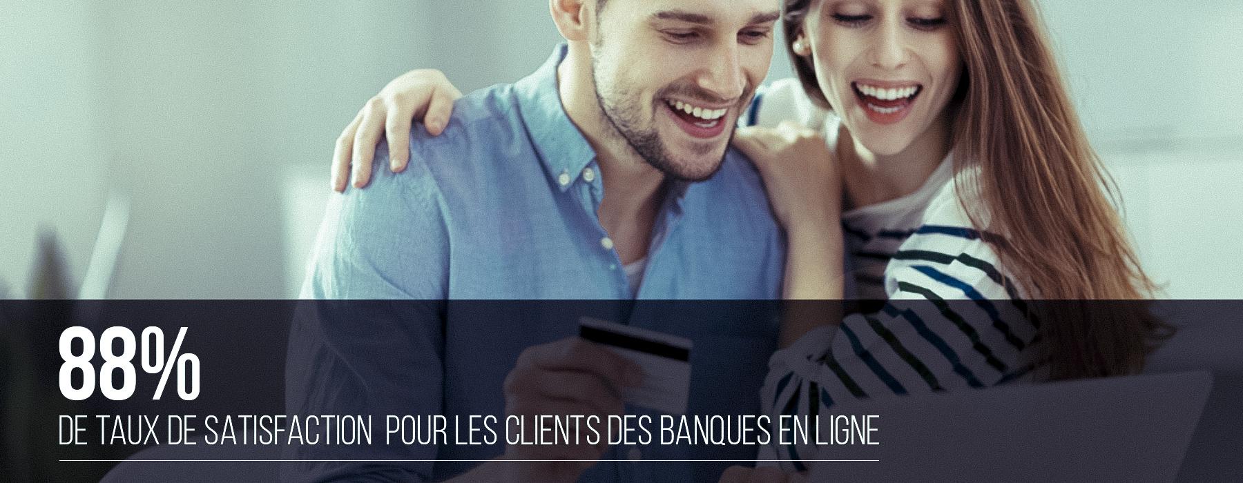 Banniere Taux satisfaction banques en ligne