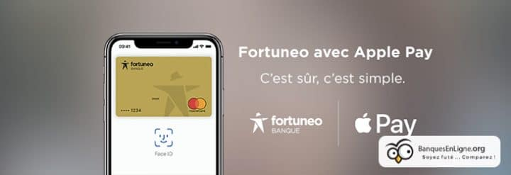 fortuneo banque apple pay