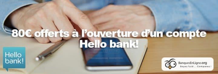 hello bank banque 80 euros offerts