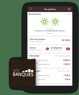 mes banques application bforbank