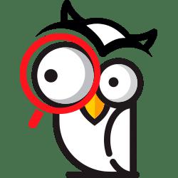 mascotte banquesenligne.org avec loupe