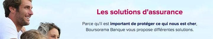 Bannière solutions d'assurance boursorama