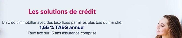 bannière solutions de crédit boursorama