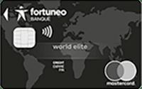 Carte mastercard world elite Fortuneo