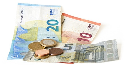pieces et billets en euro