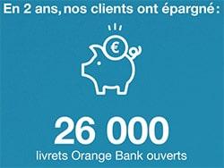 26 000 livrets d'épargne orange bank ouverts en 2 ans