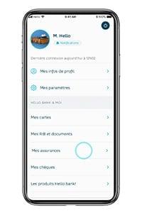 capture d'écran application hello prime par hello bank