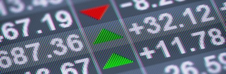 baisses et hausses de produits boursiers